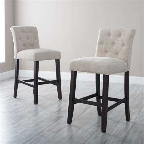 Upholstered Kitchen Counter Stools by Upholstered Bar Stools With Backs Homesfeed