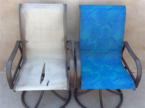 the blue color sling chair repair patio king az mi