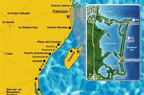 Mapa Del Hotel Solymar Beach And Resort En Cancun, Hoteles
