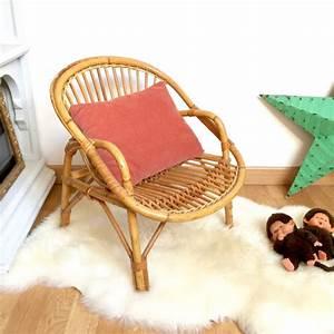 Fauteuil Rotin Enfant : fauteuil enfant en rotin brocanteandco boutique en ligne de brocante ~ Teatrodelosmanantiales.com Idées de Décoration