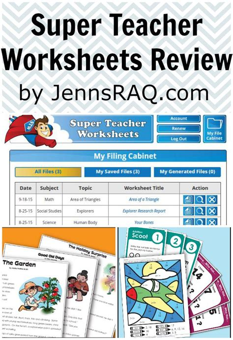 super teacher worksheets review jenn s raq