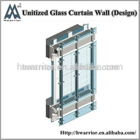 unitized glass curtain wall system it is easy to install