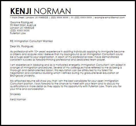 Immigration Consultant Cover Letter Sample  Cover Letter. Perfect Resume Example. Vendor Management Resume Sample. Accounting Resume Experience. Resume Builer. I Have Attached My Resume. How To Make Resume One Page. How To Describe Work Ethic In A Resume. Free Site For Employers To Search Resumes