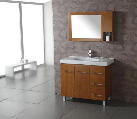 39 Inch Modern Single Sink Bathroom Vanity With Honey Oak