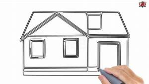 How To Draw A House Step By Step Easy For Beginners  Kids