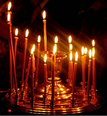 Christmas Church Candle свечи Invitation Piece Party