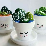 Cactus Rock Flower Pot Craft