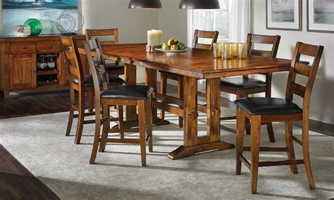 bar height kitchen table counter height dining set with leaf into the glass