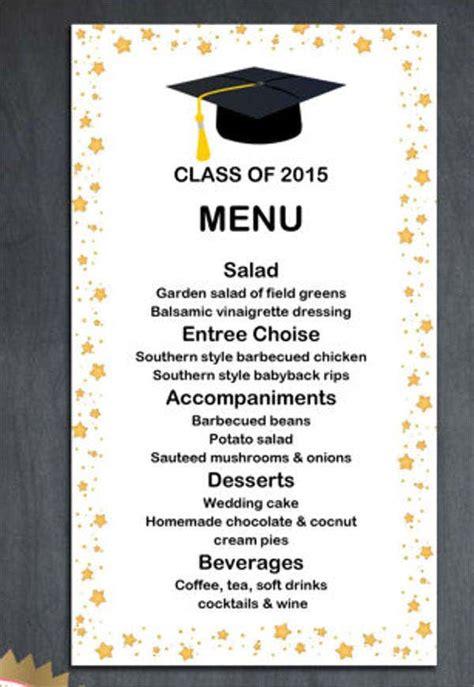 graduation menu templates psd vector eps ai