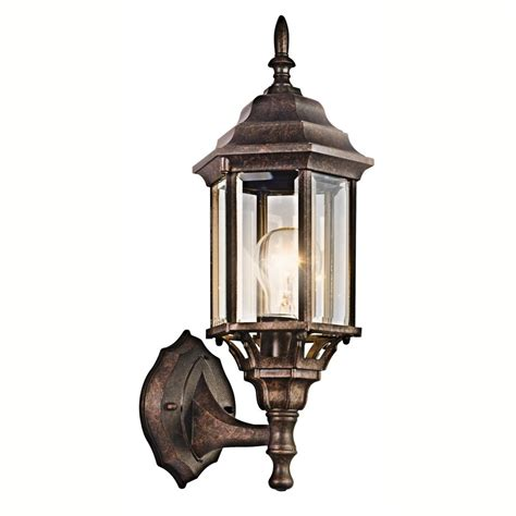 shop kichler chesapeake 17 in h tannery bronze outdoor