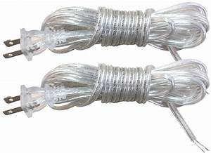 Royal Designs Clear Silver 8 Foot Replacement Lamp Cord With Molded Plug