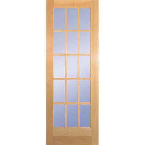 home depot glass interior doors door slab with sliding door hardwarebd6psufbk32slb the