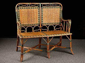Settee Origin by Antique Rattan And Bamboo Settee Origin