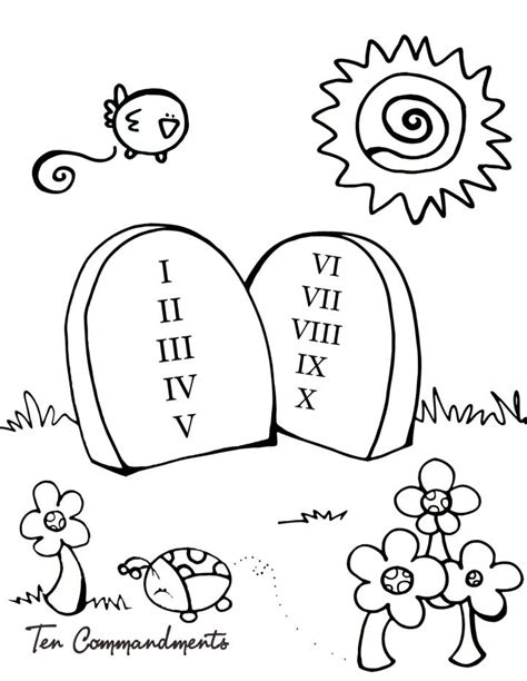 commandments coloring pages  preschool coloring pages