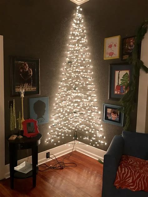 25 classic christmas wall trees to copy right now collagecab