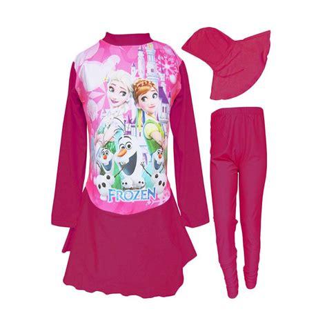 jual rainy collections baju renang anak muslim karakter