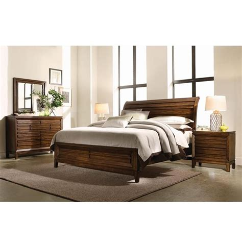 4 king bedroom set in cinnamon walnut nebraska