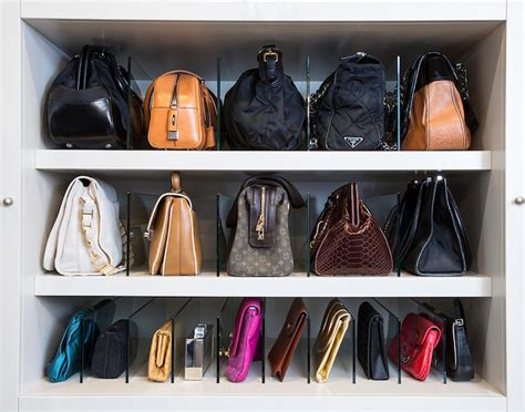 how to store bags transitional closet la closet design