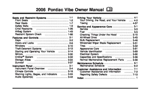 service manuals schematics 2006 pontiac vibe regenerative braking 2006 pontiac vibe owners manual just give me the damn manual