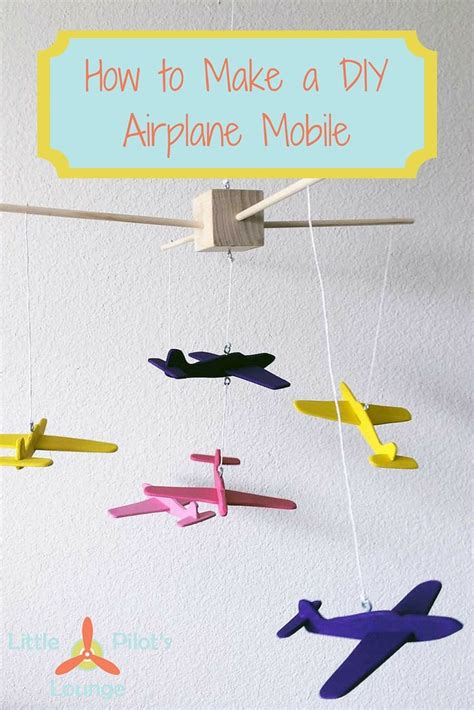 wooden airplane mobile   nursery