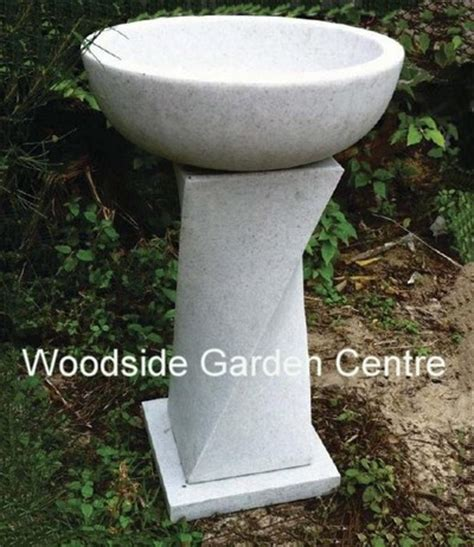 enigma marble resin granite bird bath woodside garden