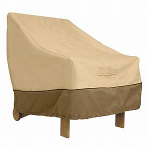 Classic accessories veranda high back patio chair cover for Oxbridge outdoor furniture covers