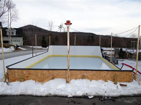 backyard ice rink liner outdoor furniture design  ideas