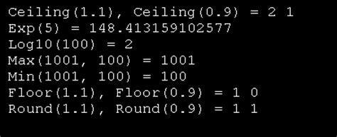 java math ceil exle math min max exp ceil and log10 math function