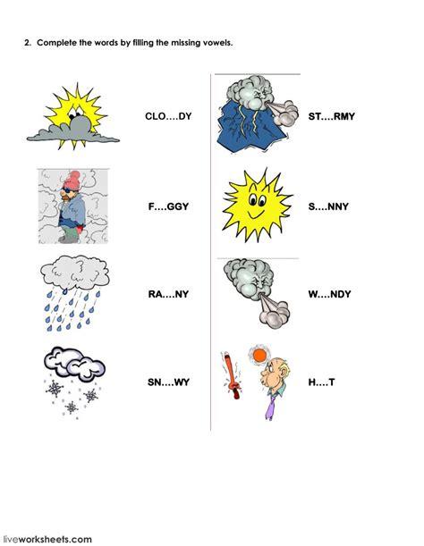 seasons  clothes worksheet