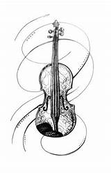 Drawing Cello Fiddle Getdrawings sketch template
