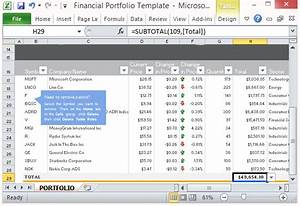 free financial portfolio template for microsoft excel 2013 With sample investment portfolio templates