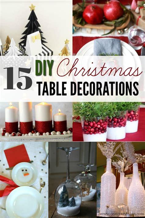 diy christmas table decorations  christmas table