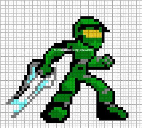 Master Chief Minecraft Blueprints And Pixel Art