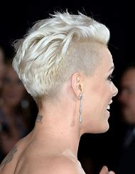 Pink Hair Short Shaved Hairstyles