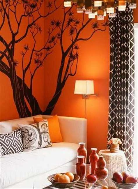 living room with orange walls modern interior design ideas celebrating bright orange color shades