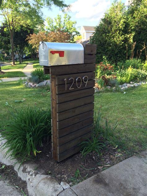 mailbox designs modern mailbox dark walnut