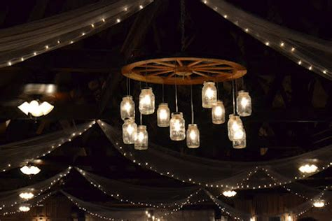 alternating wagon wheel jar chandelier by