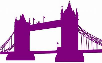 London Silhouettes Silhouette Vector Outline Svg Purple