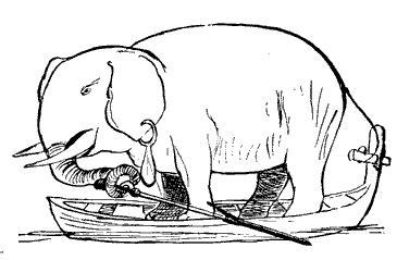 Row Row Row Your Boat Lyrics Elephant by Domain Images Elephant In Row Boat Earring