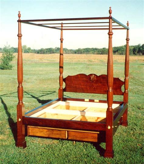 chippendale mahogany  poster bed  tester frame