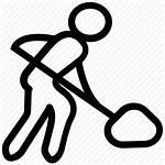 Icon Labor Labour Dig Icons Symbol Construction