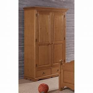 Porte De Penderie : armoire penderie pin miel 2 portes de style anglais beaux meubles pas chers ~ Teatrodelosmanantiales.com Idées de Décoration