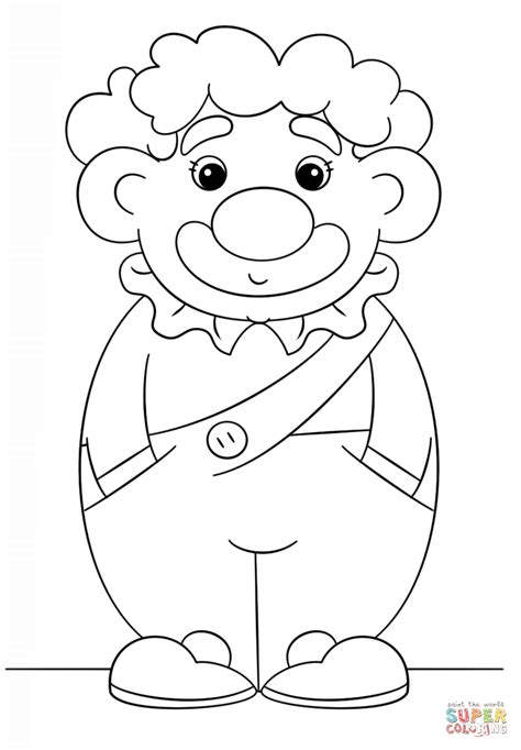 simple clown coloring page  printable coloring pages