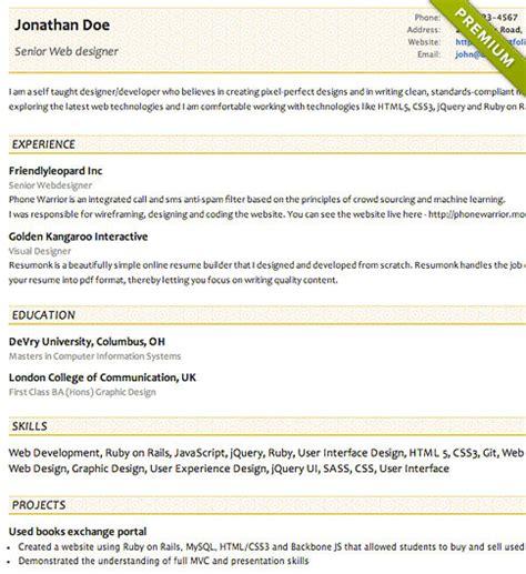 free resume templates cv templates resumonk