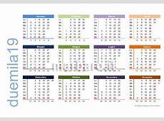 Calendario 2019 da stampare 9 PDF da scaricare gratis