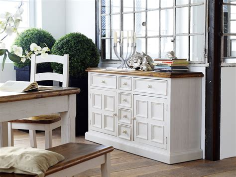 sideboard cabinet high gloss fronts cupboard storage display boddem sideboard in white pine 6 drawers 2 cupboard 25344