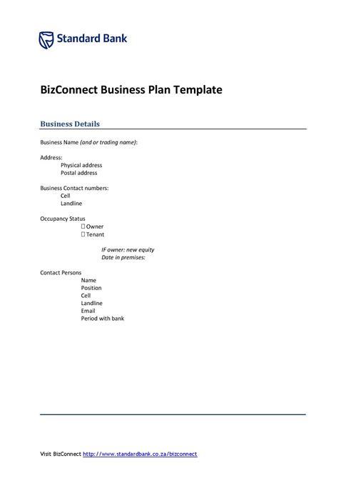 business plan template formfactory