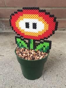 Super Mario Deko : super mario fire flower plant super mario party b gelperlen basteln und vorlagen ~ Frokenaadalensverden.com Haus und Dekorationen