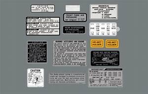 1982 Cx500t Caution  Warning Label Kit