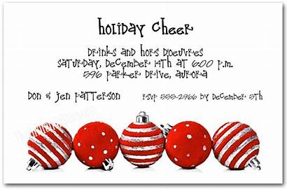 Invitations Holiday Party Ornaments Christmas Silver Theme